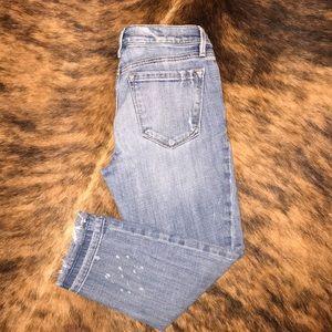 Loft relaxed skinny crop jeans sz 26/2